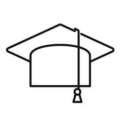 Graduate cap icon outline diploma hat vector