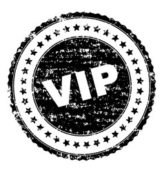 grunge textured vip stamp seal vector image