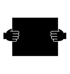 hands holding paper icon vector image