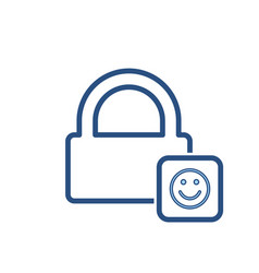 happy lock office icon vector image