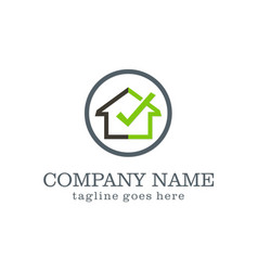 Home check secure company logo vector