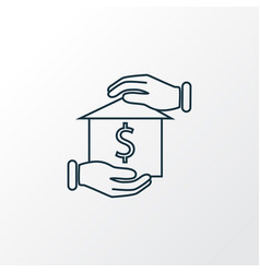Home mortgage icon line symbol premium quality vector