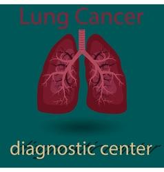 human lung emblem vector image