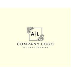 Initial al letters botanical feminine logo vector