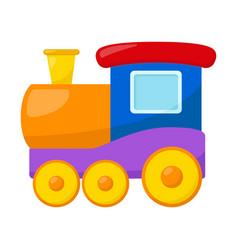 Kid toy train vector
