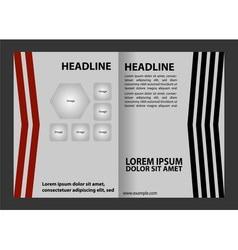 Leaflet template design vector