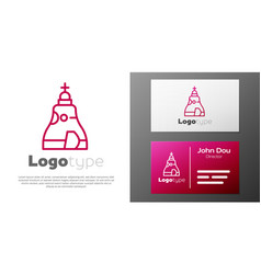 Logotype line the tsar bell in moscow monument vector