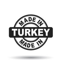 made in turkey black stamp on white background vector image
