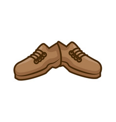 male shoes footwear vector image