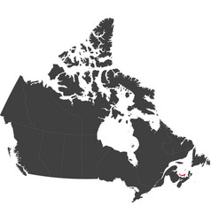 map of canada - prince edward island vector image