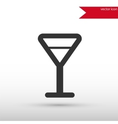 Martini glass black icon and jpg flat vector