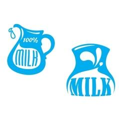 Milk emblems and symbols vector