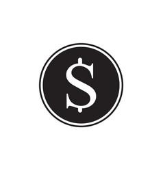 money icon black dollar cash isolated on vector image