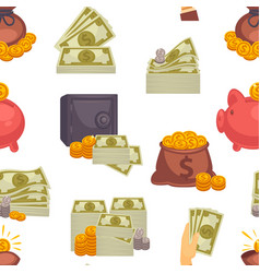 money usd cash american dollar banknotes and vector image