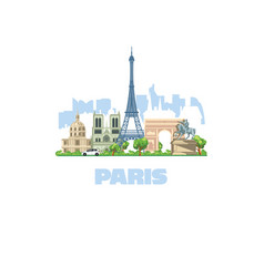 most beautiful city in europe paris most visited vector image