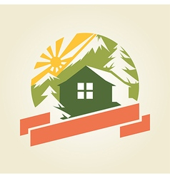 mountain house 1 vector image