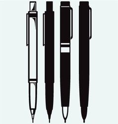 Pencil pen and fountain pen icons vector image