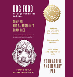 pet food product label template abstract vector image