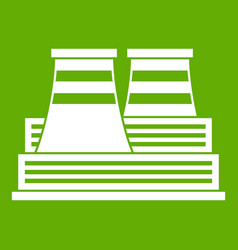Power station icon green vector