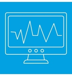 Pulse monitoring thin line icon vector image
