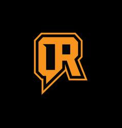 qr logo vector image