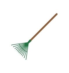 Rake gardening tool vector
