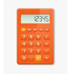 realistic calculator vector image