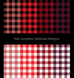 Red lumberjack pattern collection vector