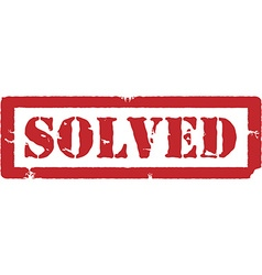 Red stamp solved vector image