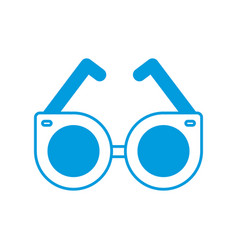 round glasses accessory trendy fashion icon vector image