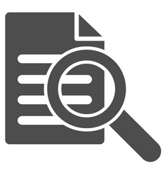 Search document icon vector
