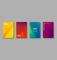 set abstract minimal cover designs vector image
