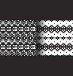 set ethnic prints tribal geometric design vector image