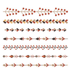 Set flat natural horizontal dividers seamless vector