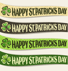 Set of ribbons for saint patricks day vector