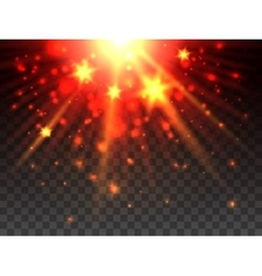 Star explosion on transparent background vector