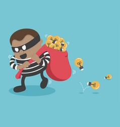 Stealing a businessman good idea vector