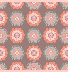 Stylized floral seamless pattern in oriental style vector