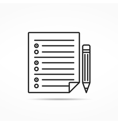 Survey Line Icon vector image