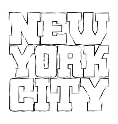 T shirt typography graphics New York black grunge vector image