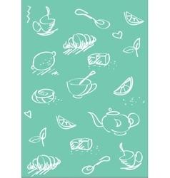 tea st background light blue vector image