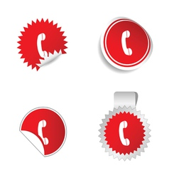 telephone sticker vector image