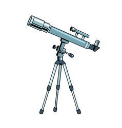 telescope object pop art vector image