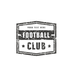 template emblem for football club vector image