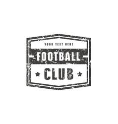 Template emblem for football club vector