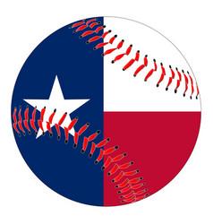 Texas flag baseball vector