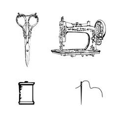 textile materials vector image