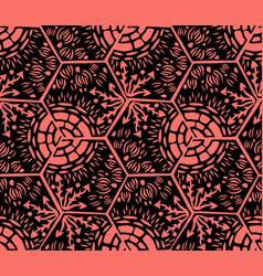 underwater world hexagonal tiles seamless vector image