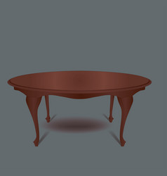 vintage furniture retro brown coffee table on gre vector image