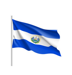 waving flag of el salvador vector image